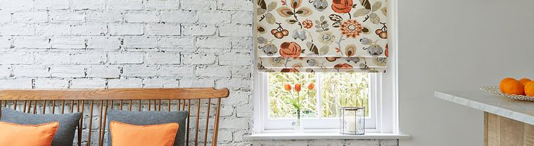 orange roman blind - kitchen - bohemia-tango