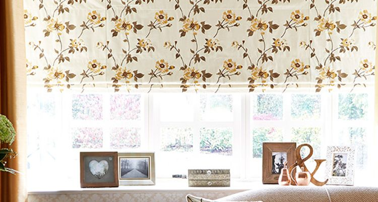 yellow roman blind - Living Room - lambay gold