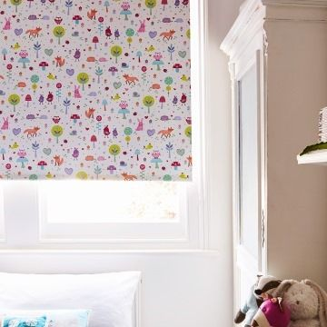 Roller Blind_Woodland Pink_Childrens Bedroom