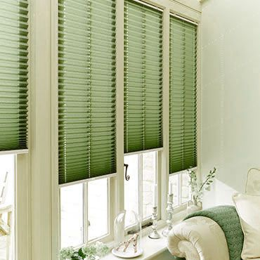 Green Pleated Blinds Up To 50 Off Sale Hillarys