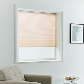 Pleated Blind_Florence Peach_Roomset