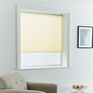Pleated Blind_Florence Lemon_Roomset