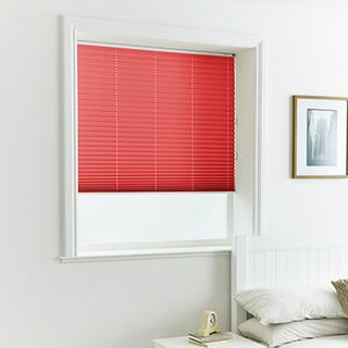 Pleated Blind_Lanbury Crimson_Roomset