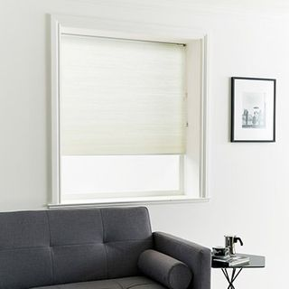 Pleated Blind_Thermashade Chalk_Roomset