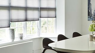 Pleated Blind_Sunlite Grey_Roomset