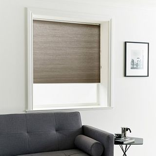 Pleated Blind_Thermashade Charcoal_Roomset