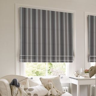 Roman Blind_Lundy Charcoal_Roomset