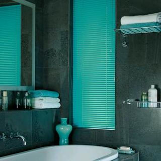 Venetian Blind_Spectrum Electric Aqua_Roomset