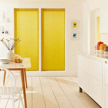 Yellow Venetian Blinds Made To Measure Yellow Metal