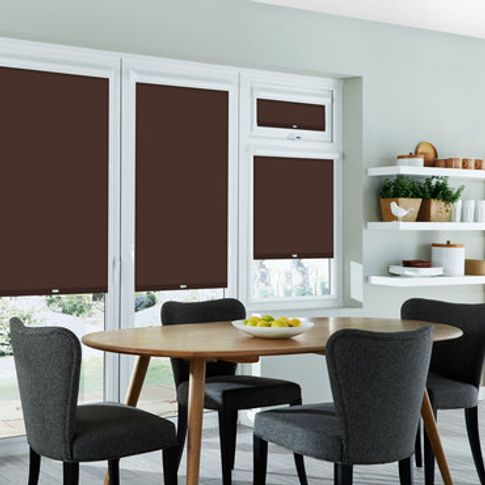 Roller Blind_Cordova Chocolate_Roomset