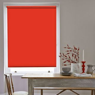 Roller Blind_Cordova Red_Roomset