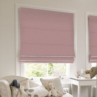 Roman Blind_Roche Blush_Roomset