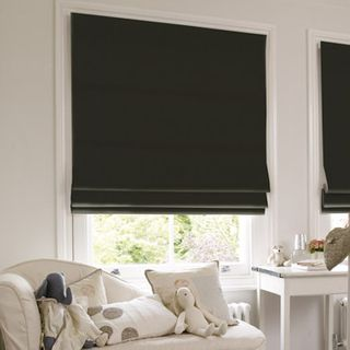 Roman Blind_Tetbury Black_Roomset