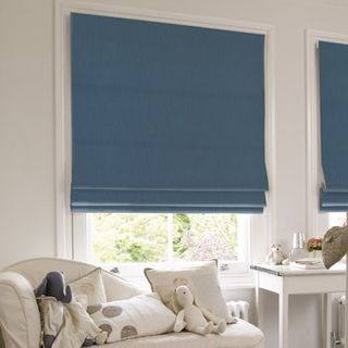 Roman Blind_Tetbury Denim_Roomset