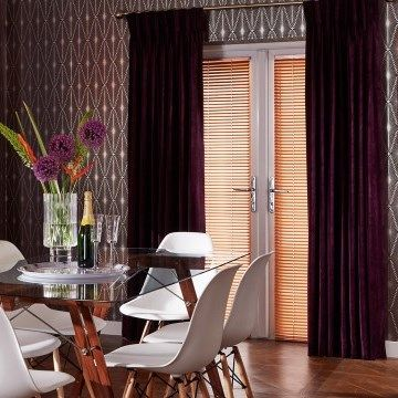 Moroccan Bazaar Purple Curtain   Dining Room   Lyon Plum