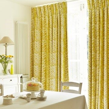 Dining room curtains hillarys - Yellow dining room curtains ...