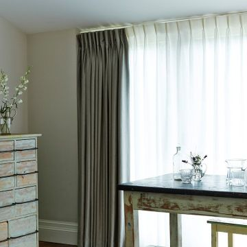 Kitchen Curtains black and silver kitchen curtains : Pencil Pleat curtains from Hillarys