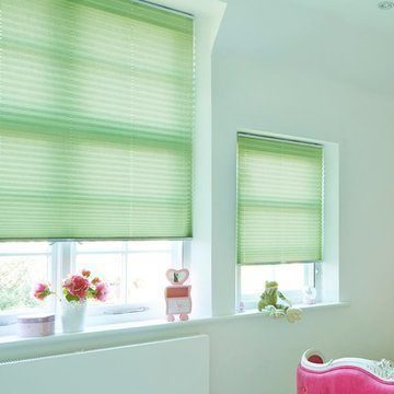 Pleated Blind_Crush Fern_Bedroom