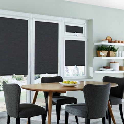Roller Blind_Jerico Charcoal_Roomset