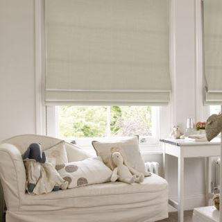 Roman Blind_Clarence Off White_Roomset