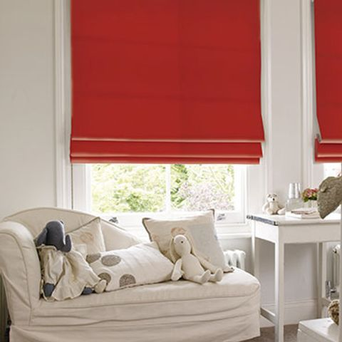 Roman Blind_Tetbury Red_Roomset