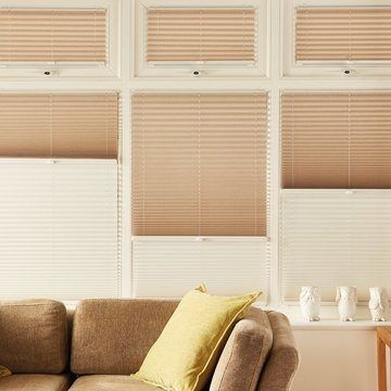Pleated Blind_Elba Cream_Conservatory