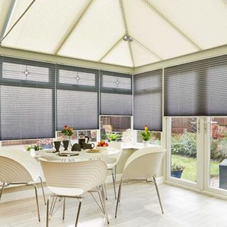Kari-cream-crush-charcoal-pleated-blind-conservatory