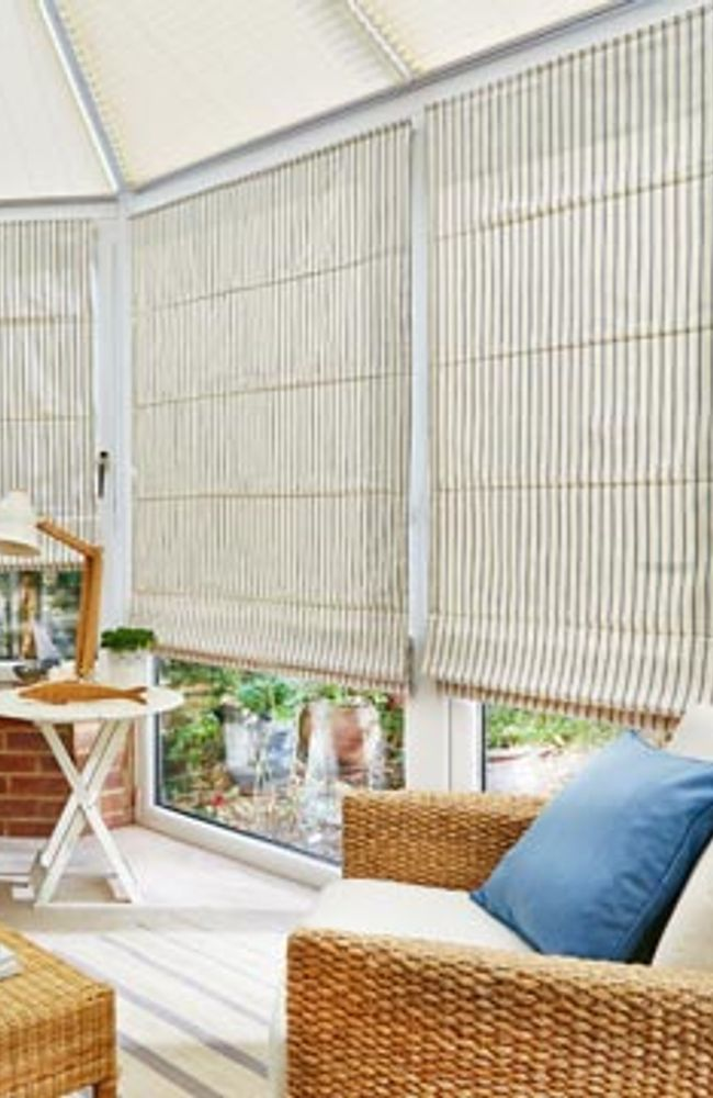 Downtown-blue-roman-blind-conservatory