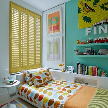 Full Height Yellow Custom Colour Shutters