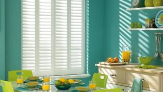 Full Height White Henley Shutters