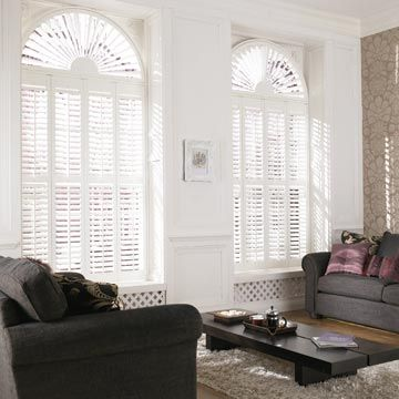 Shaped White Warwick Shutters