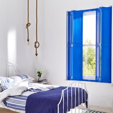 Solid Blue Custom Colour Shutters