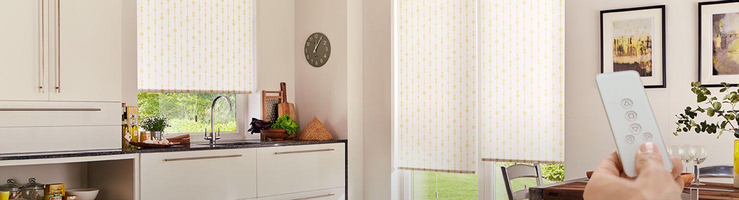 electric blinds hillarys. Black Bedroom Furniture Sets. Home Design Ideas