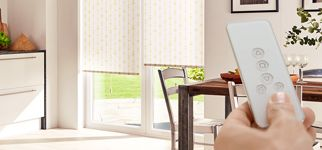 motorised roller blind-kitchen-retta gold-