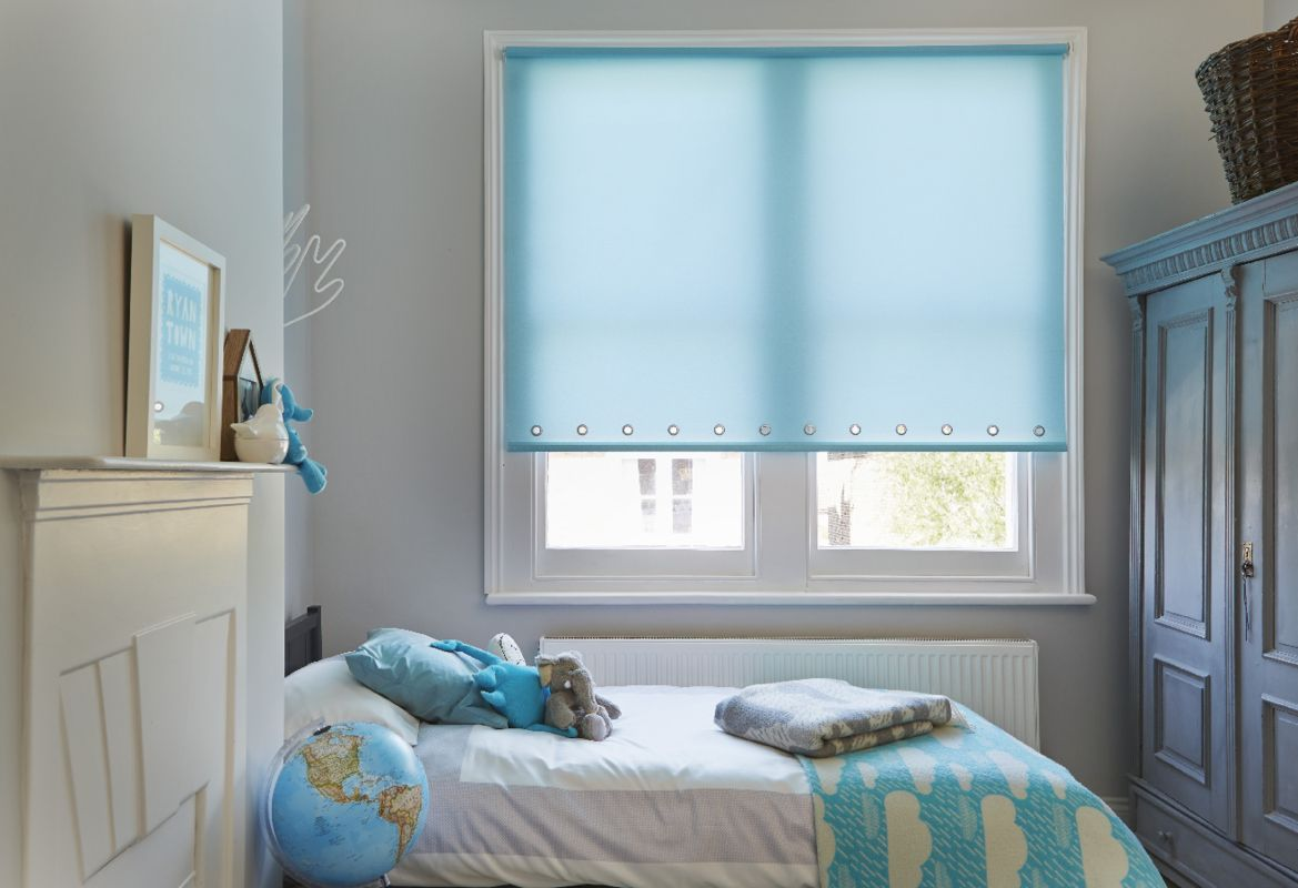 Ravenna Aqua Roller blind bedroom -