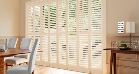 Silk white-tracked-shutters-dining-room -