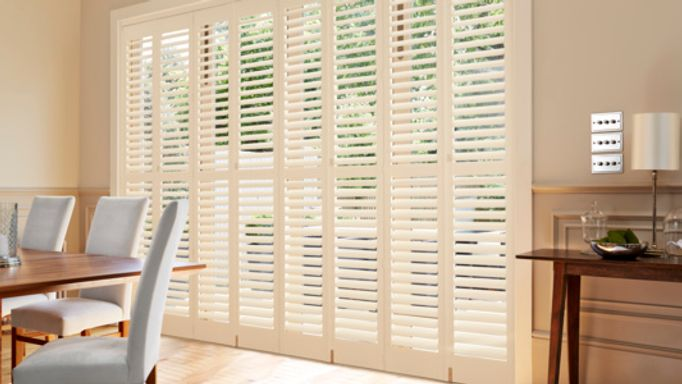 Silk white-tracked-shutters-dining-room