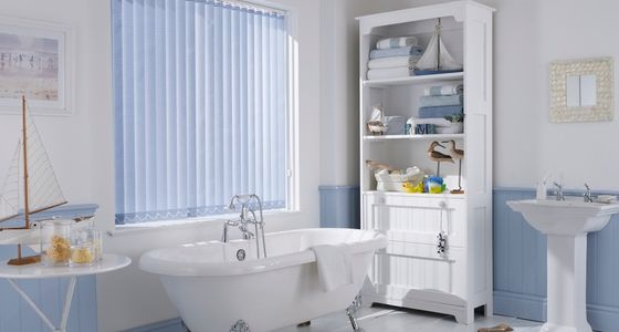 Blue Vertical blind -