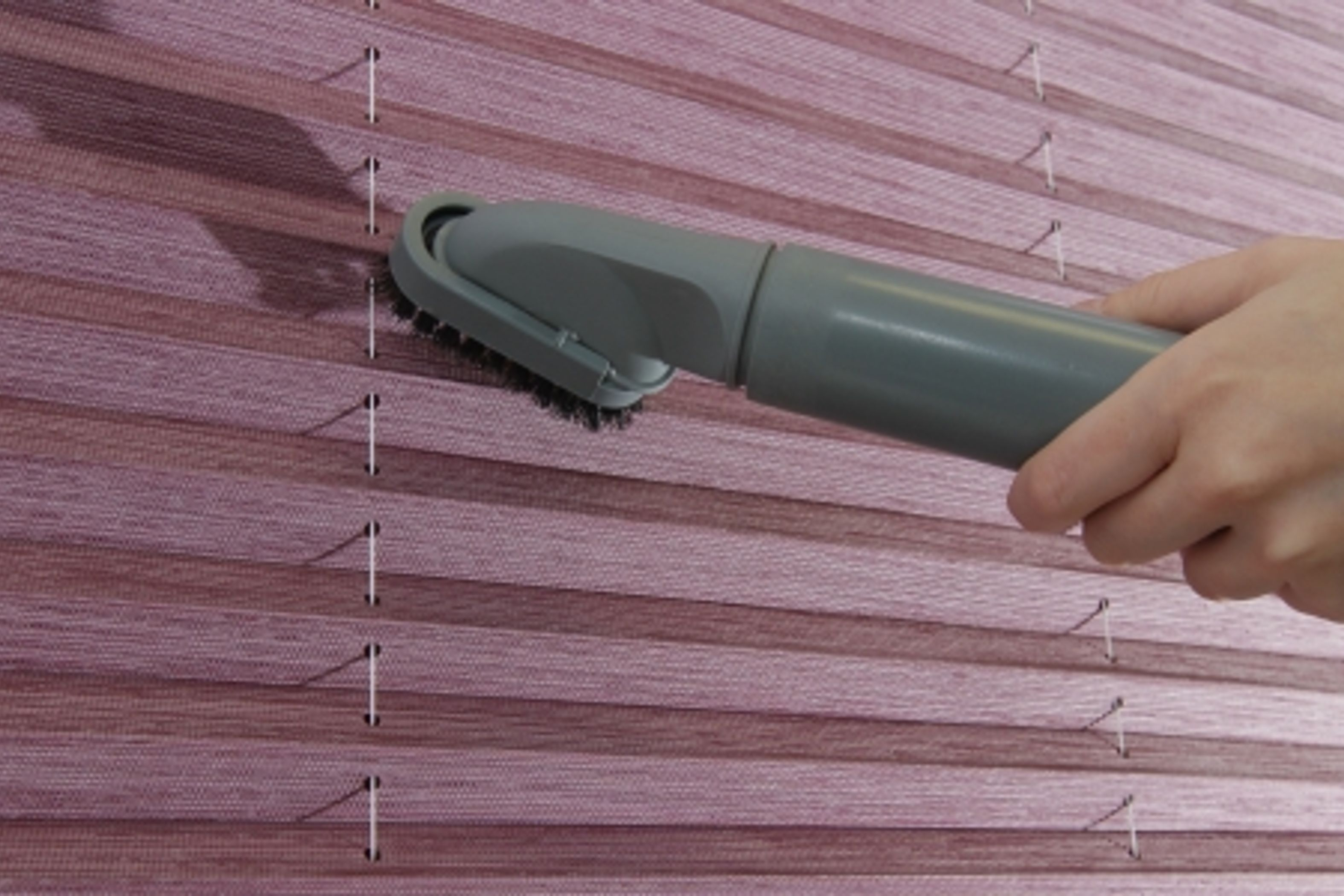 Vacuuming Pleated blinds -