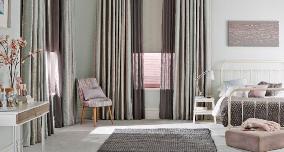 grey voile curtains -