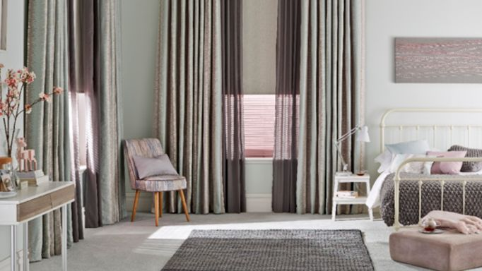 grey voile curtains