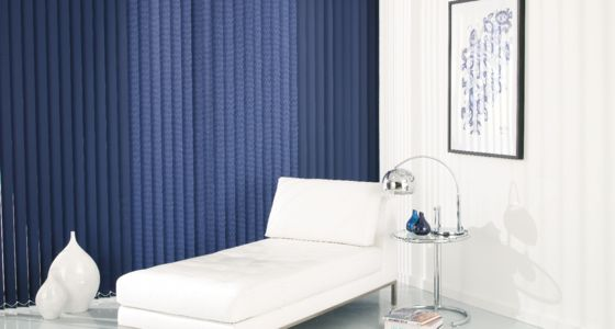 Acacia Navy Vertical blind -