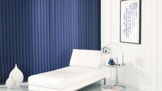 Acacia Navy Vertical blind