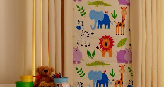 Narnia Multi Roman blind and curtains -