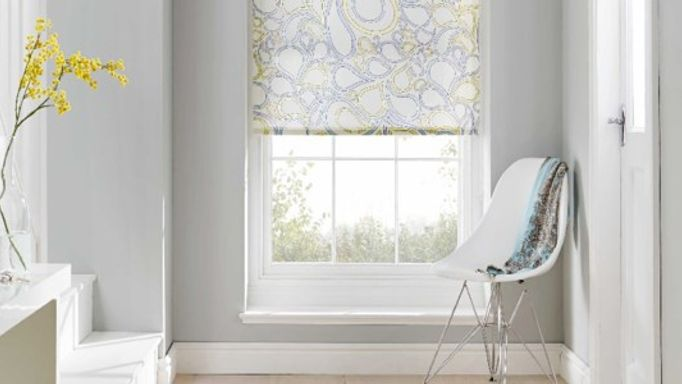 White Kinsley Bijoux Patterned Roller blind
