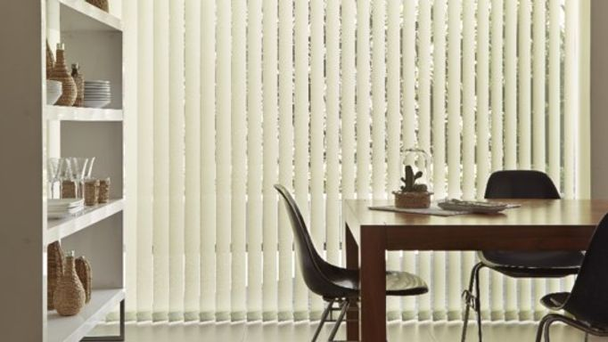 White Pistachio Vertical Blinds