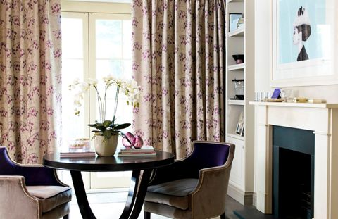 Willowy Amethyst curtains