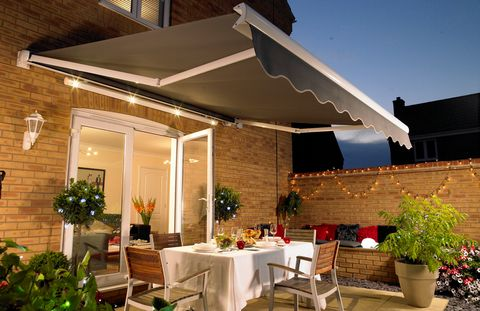 Awning with integrated lighting