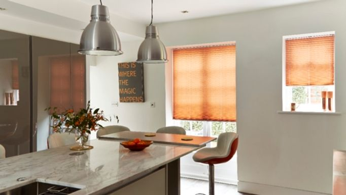 Moreno Rust Pleated blinds