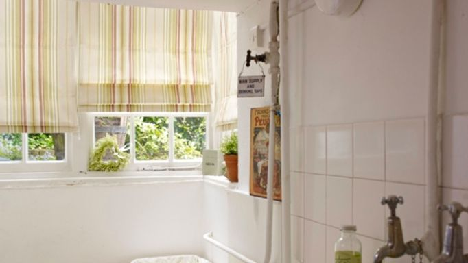 Lundy Pistachio Roman blinds